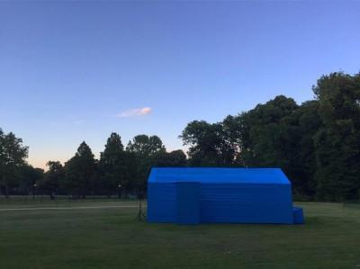 Tijdens de tweede Parksessies is Binnenstebuiten veranderd in blauw ruimteschip!
