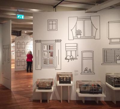 Illustraties van Synergique in de proefopstelling van het Amsterdam Museum
