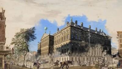 Op de tentoonstelling #KijkAmsterdam is een 7 meter brede animatie te zien die je naar 18e-eeuws Amsterdam transporteert. We versmelten de 200 jaar oude tekeningen met het Amsterdam van nu.