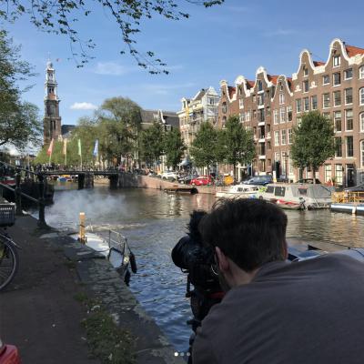 Samen met Harm filmen we bijzondere plekken  in Amsterdam voor Kijk Amsterdam