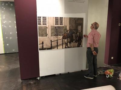 De eerste print-test op zaal van het Stadsarchief