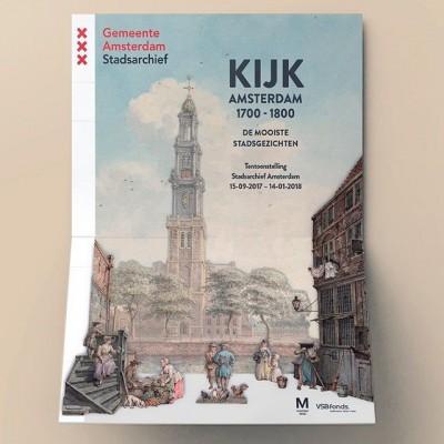 Deze maand delen we wat posters die we over de afgelopen 10 jaar hebben gemaakt, in het kader van #posterspree. We beginnen met de meest recente. De poster van tentoonstelling  #KijkAmsterdam, nog 2 maanden te zien bij @stadsarchief.
