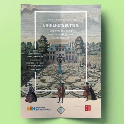 De reizende #tentoonstelling #Binnenstebuiten over Noord-Hollandse buitenplaatsen staat dit weekend nog bij Chateau Marquette in Heemskerk, daarna gaat hij de winteropslag in. #posterspree